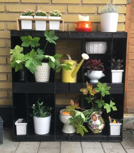 Decorative wall and storage with Agro Block.